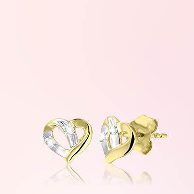 Diamant oorbellen