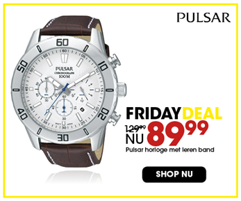 Black Friday aanbieding - Leren Pulsar horloge 89,99 3