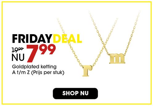 Black Friday aanbieding - Goldplated ketting 7,99 3