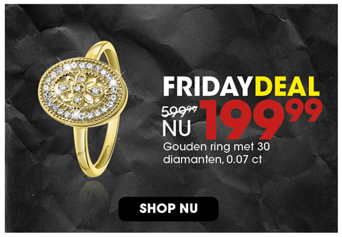 Black Friday aanbieding - Diamanten ring 199,99 3
