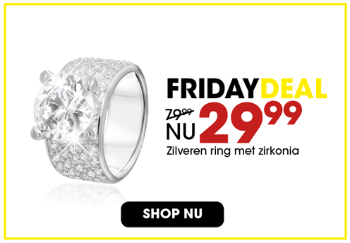Black Friday aanbieding - Zilveren ring 3