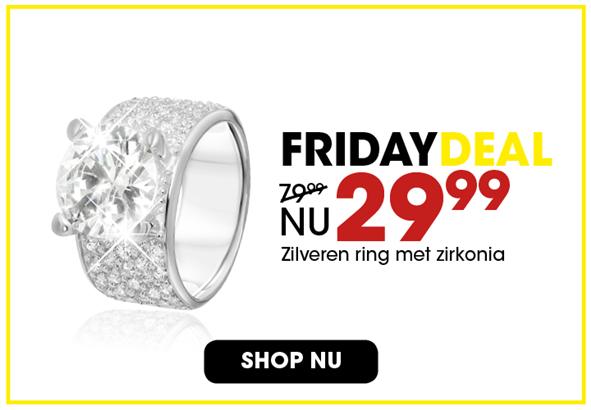 Black Friday aanbieding - Zilveren ring 2