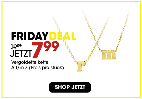 Black Friday aanbieding - Goldplated ketting 7,99 3