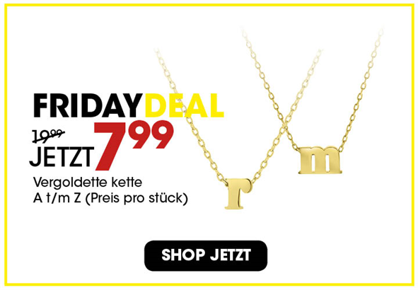 Black Friday aanbieding - Goldplated ketting 7,99 2