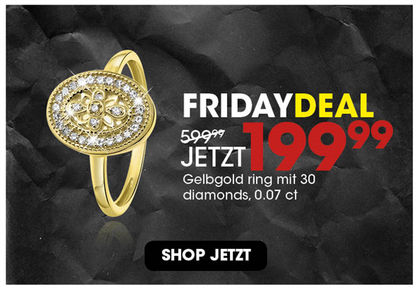 Black Friday aanbieding - Diamanten ring 199,99 2