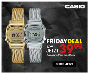 Black Friday aanbieding - Casio retro mesh 39,99 3