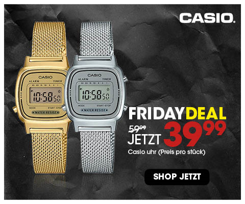 Black Friday aanbieding - Casio retro mesh 39,99 4